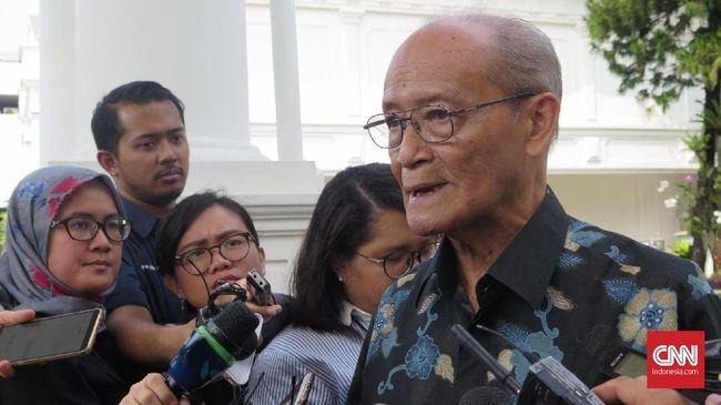 Eks Ketua Umum PP Muhammadiyah Syafii Maarif mengusulkan agar Jokowi membentuk zaken kabinet jika resmi terpilih sebagai presiden 2019-2024.
