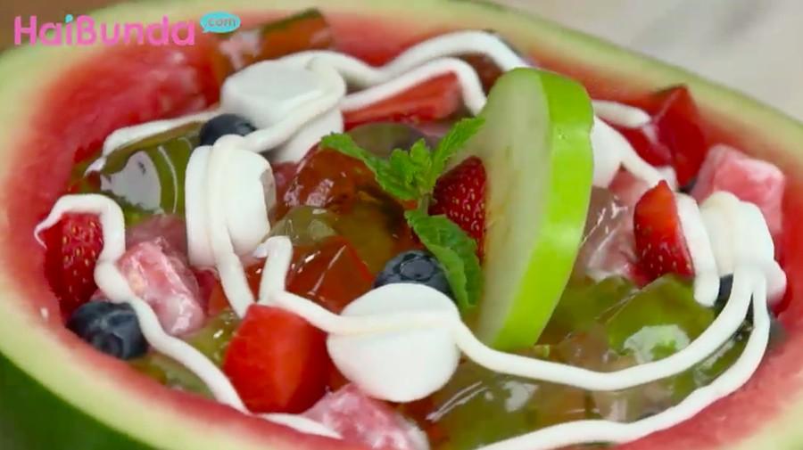 Menu Buka Puasa: Watermelon Jelly, Sajian Aneka Buah Menyegarkan