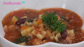 Menu Sahur: Sup Makaroni Tomat Hangatkan Santap Bersama Keluarga