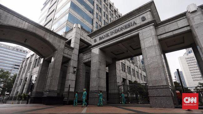 Ilustrasi Logo Bank Indonesia, Jakarta, 10 Mei 2019. CNN Indonesia/Hesti Rika