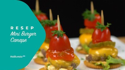 Resep Mini Burger Canape