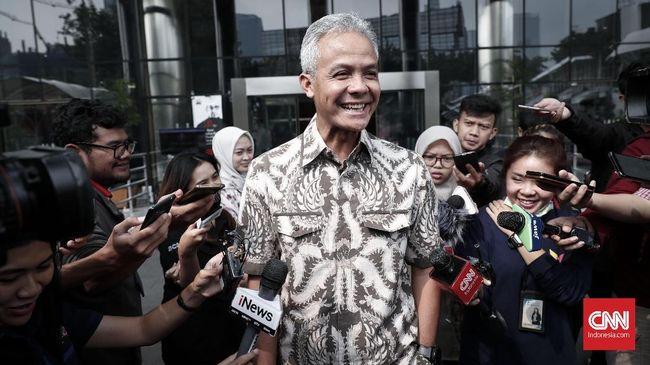 Komisi Pemberantasan Korupsi memeriksa Ganjar Pranowo sebagai saksi untuk tersangka Markus Nari dalam dugaan suap proyek e-KTP.