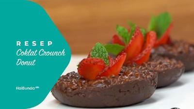 Resep Cokelat Crunch Donat
