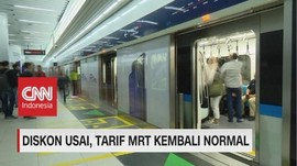 VIDEO: Mulai Hari Ini, Tarif MRT Jakarta Kembali Normal