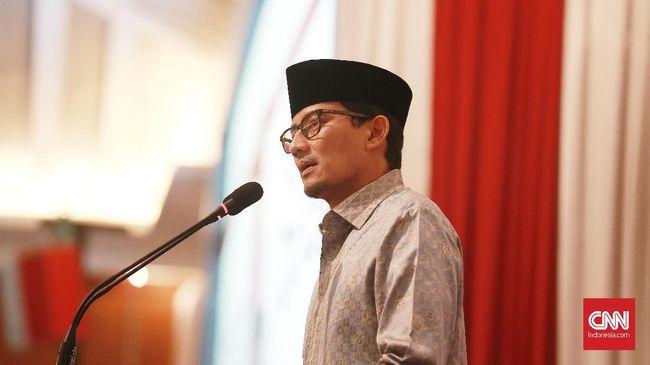 Sandiaga Uno mendukung Machfud Arifin yang merupakan mantan Ketua Tim Kampanye Daerah Jokowi-Ma'ruf Amin di Pilpres 2019 lalu.