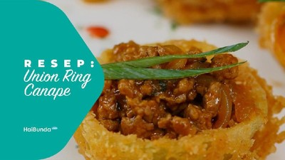 Resep Onion Ring Canape