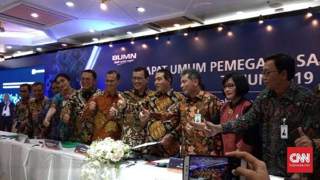 PT Bank Rakyat Indonesia (Persero) Tbk membagikan dividen sebesar Rp16,17 triliun kepada pemegang saham, atau 50 persen dari total laba bersih 2018.
