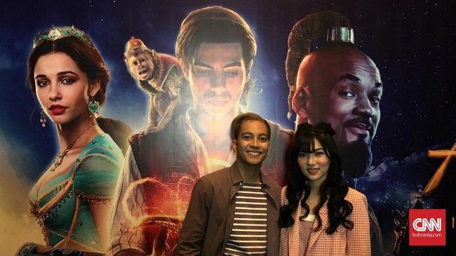 Isyana dan Gamaliel mendapat kesempatan eksklusif menonton 'Aladdin' sebelum film itu tayang di bioskop, namun 'menyia-nyiakannya.'