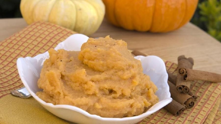 Roasted Pumpkin Puree, Menu MPASI Si Kecil Saat Mudik