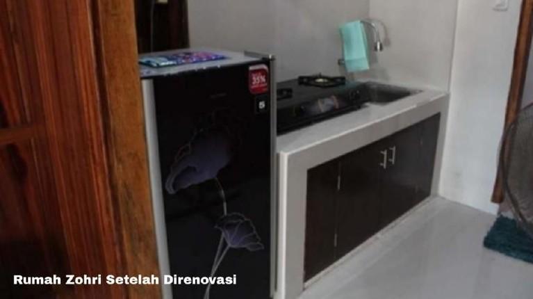 Renovasi rumah lama Zohri dilakukan TNI dan Polri. Biaya renovasi rumah lama pelari ini menghabiskan dana Rp30 juta.