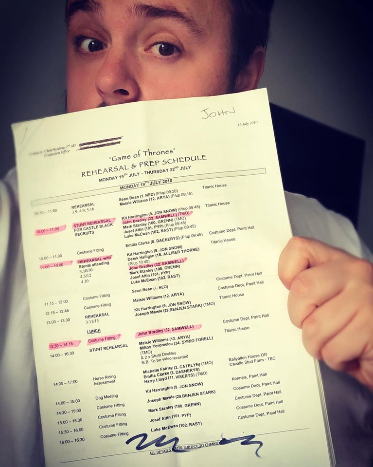 John Bradley West,pemeran Samwell Tarly menuliskan perpisahan selamat tinggal melalui instagram pribadinya,