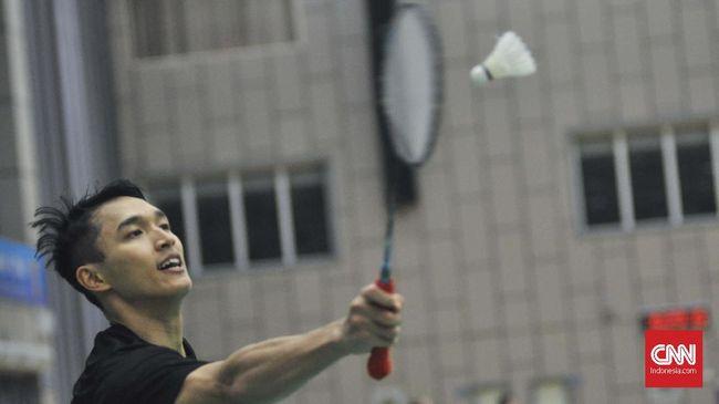 Jonatan Christie selalu unggul dalam lima laga sebelumnya melawan pebulutangkis Taiwan, Chou Tien Chen.