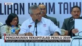VIDEO: Jokowi - Ma'ruf Ditetapkan Jadi Pemenang Pilpres 2019