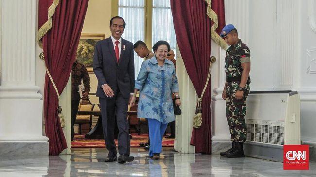 Presiden Joko Widodo melakukan pertemuan tertutup dengan Megawati Soekarnoputri di Istana Merdeka usai pengumuman rekapitulasi akhir Pemilu 2019 oleh KPU.