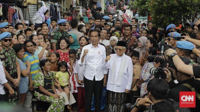 Jokowi-Ma'ruf Amin Tak di Jakarta saat Sidang Putusan MK