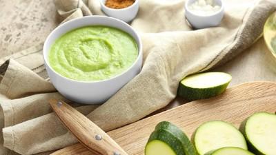 Puree Zucchini, Kentang, dan Bayam, MPASI Mudik Tinggi Antioksidan