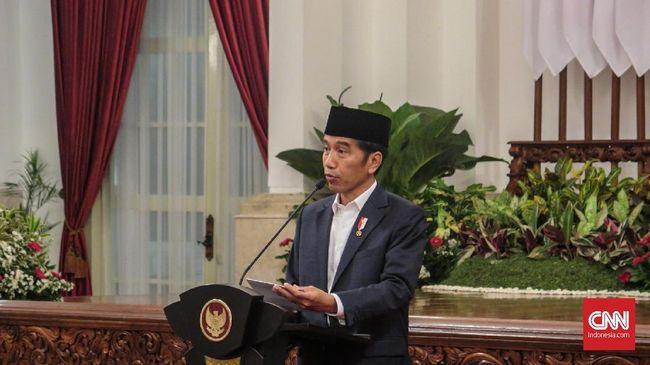 Presiden RI Joko Widodo (Jokowi) menggelar konferensi pers di Istana Merdeka menyikapi kerusuhan 22 Mei di depan Bawaslu hingga Tanah Abang.