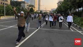 Demo 22 Mei Ricuh, Jalan Thamrin Ditutup Total