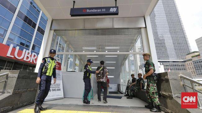 PT MRT Jakarta memutuskan untuk menutup Stasiun Bundaran HI dengan alasan keamanan. Penutupan dilakukan akibat kerusuhan 22 Mei.
