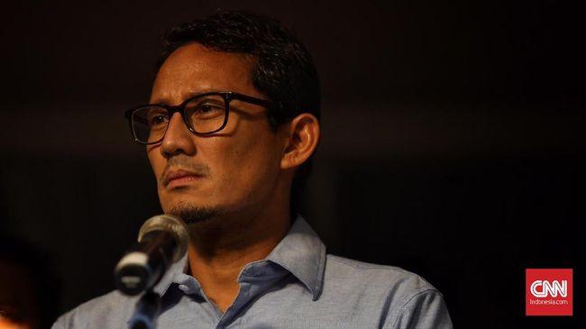 Sandiaga mengklaim telah mendapat laporan dari berbagai pihak yang menyaksikan sendiri terjadi ketidakadilan dalam penyelenggaraan Pemilu 2019.