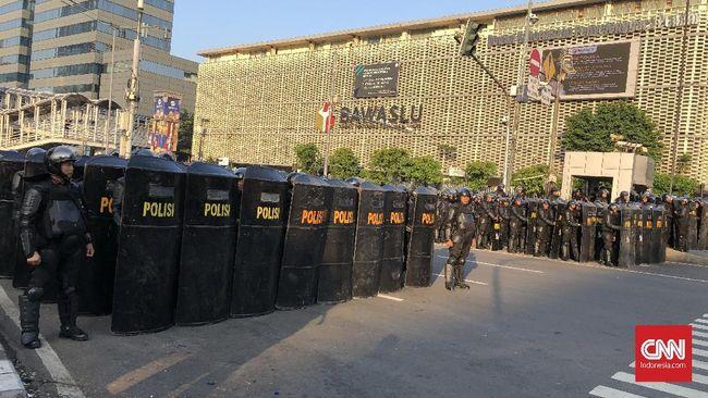 Kepolisian menerima surat izin dari 11 elemen atau organisasi masyarakat yang akan melakukan aksi 22 Mei di depan Gedung Bawaslu.