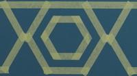 Jika Bunda ingin membuat outline, ulangi langkah ini dengan membentuk heksagon yang berukuran lebih kecil di dalam stensil. (Foto: AkzoNobel)