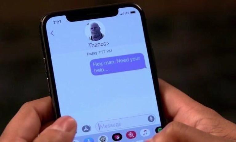 Meme kocak tentang percakapan dengan Thanos juga jadi penghibur di aksi 22 Mei.