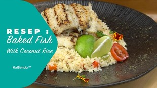 Resep Baked Fish With Coconut Rice