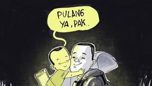 Pesan Menyentuh Ilustrasi Anak Kangen Ayah Saat Aksi 22 Mei