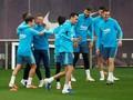 FOTO: Canda Tawa Barcelona Jelang Final Copa del Rey