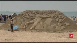 VIDEO: Sambut Musim Panas, Pantai Haeundae Jadi Galeri Seni