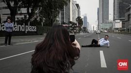 FOTO : Kawasan Jalan MH Thamrin Mulai Kondusif