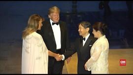VIDEO: Trump Jadi Tamu Negara Pertama Kaisar Baru Jepang