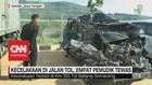 VIDEO: Kecelakaan di Jalan Tol, 4 Pemudik Tewas