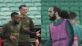 VIDEO: Cekcok Higuain dan Luiz Jelang Final Liga Europa 2019