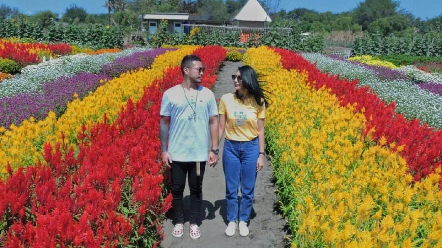Tyas Mirasih & Raiden Menelusuri Taman Bunga Romantis di Yogyakarta