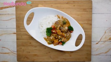 Menu Lebaran: Sedapnya Rendang Meatball Rice Noodle