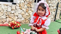 <p>Manisnya senyumnya Seraphina saat bergaya mengenakan pkaian khas nona-nona Belanda. Mau jualan tulip ya? <em>He-he-he</em>. (Foto: Instagram @yaswildblood)</p>