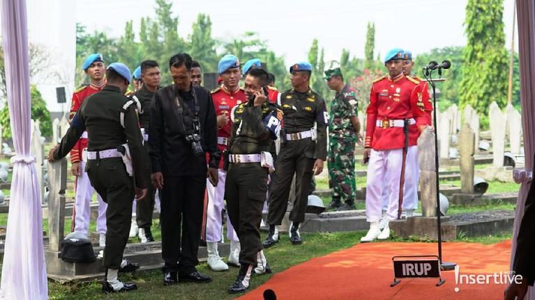 Persiapan upacara kenegaraan untuk prosesi pemakaman Ani Yudhoyono