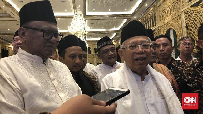 Calon Wakil Presiden Terpilih, Ma'ruf Amin akan merayakan Idul Fitri bersama Jokowi di Istana Negara, sekitar pukul 9 pagi.