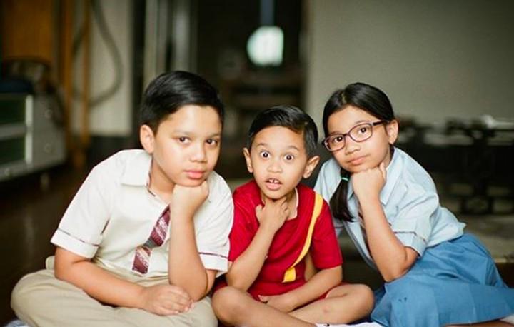 <p>Rukun selalu ya Omar, Ayesha, dan Zayn.(Foto: Instagram/ @dr_tompi)</p>