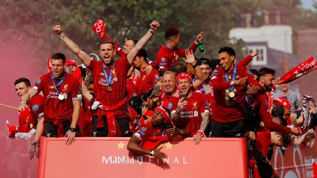 Foto Pesta Juara Liga Champions Liverpool