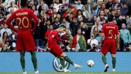 FOTO: Ronaldo Menggila, Cetak Tiga Gol Indah