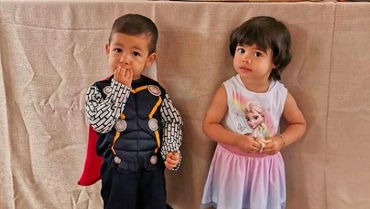 <p>Anak kedua Cristiano Ronaldo, si kembar Eva dan Mateo baru saja berulang tahun ke-2. Tepatnya pada 8 Juni lalu. (Foto: Instagram @georginagio)</p>