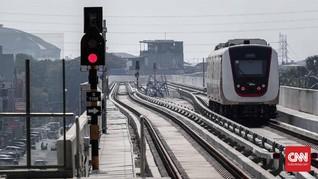 LRT Jakarta Sterilisasi Kereta Pakai Sinar Ultraviolet