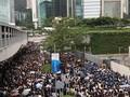 VIDEO: Massa Anti RUU Ekstradisi Blokir Jalanan Hong Kong