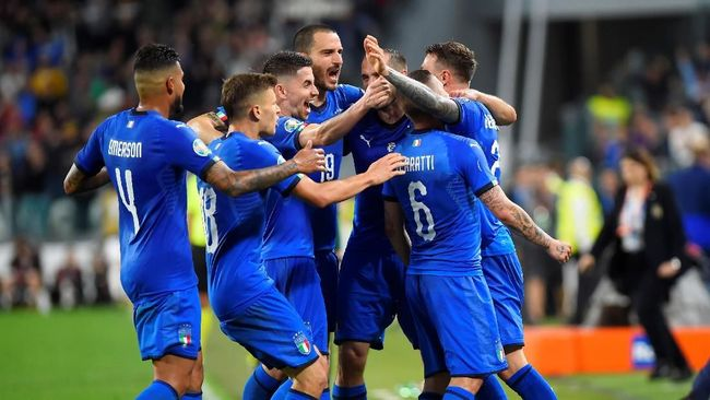 Mancini Akui Timnas Italia Menang Susah Payah