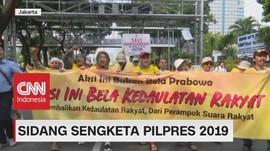 VIDEO: Aksi di Sidang Sengketa Pilpres 2019