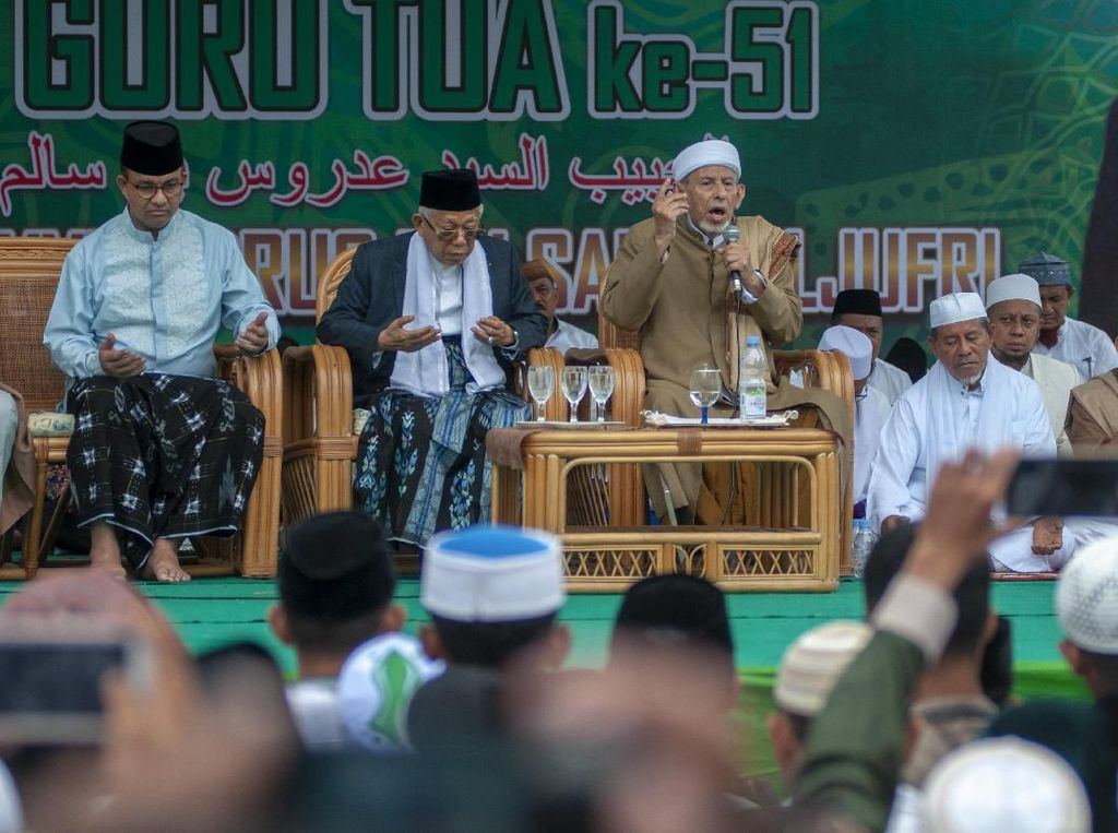 Ma'ruf Amin dan Anis Baswedan Hadiri Haul Guru Tua