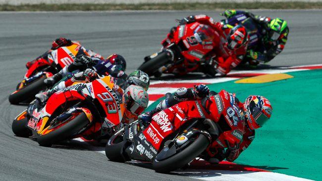 MotoGP Catalunya musim lalu menyimpan kenangan buruk bagi Maverick Vinales, Valentino Rossi, dan Andrea Dovizioso setelah dijatuhkan Jorge Lorenzo.
